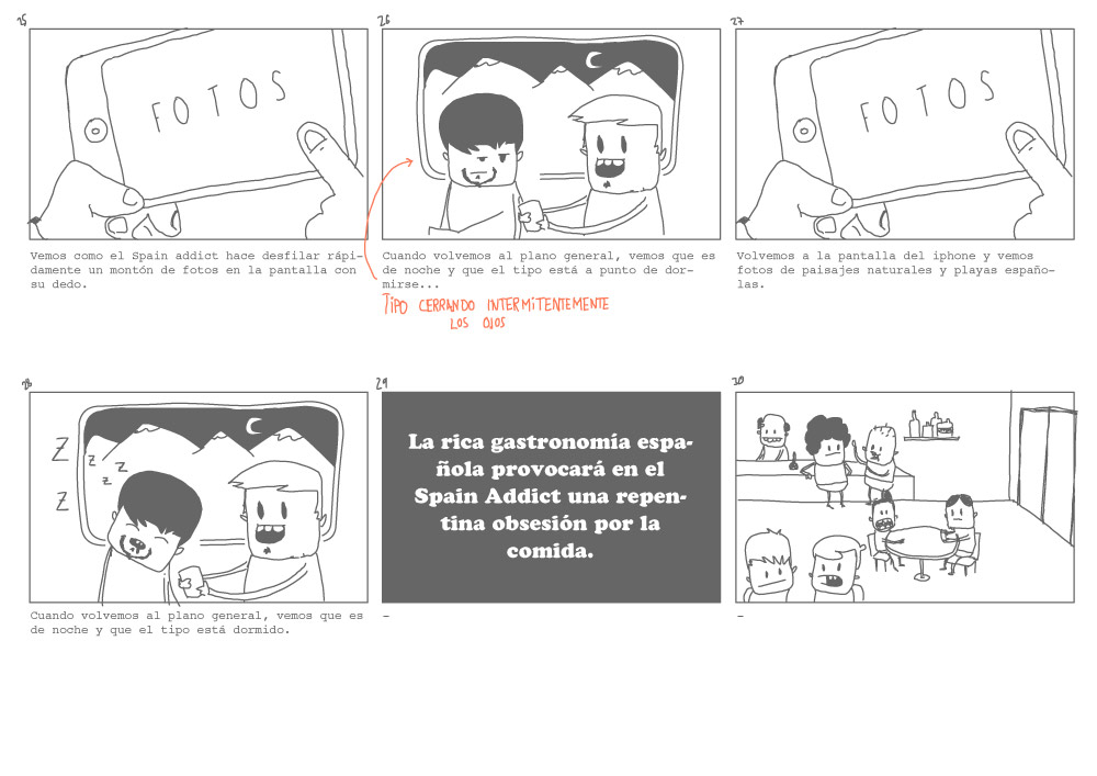 Spanish Addicts / Storyboard